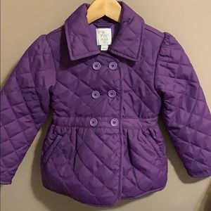 Purple quilted jacket 4T